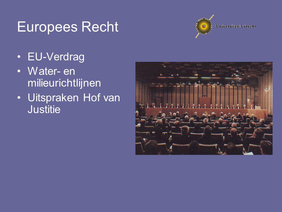 Europees Recht EU-Verdrag Water- en milieurichtlijnen