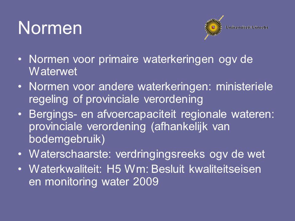 Normen Normen voor primaire waterkeringen ogv de Waterwet
