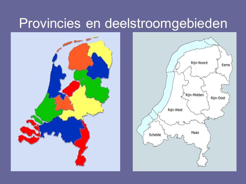 Provincies en deelstroomgebieden