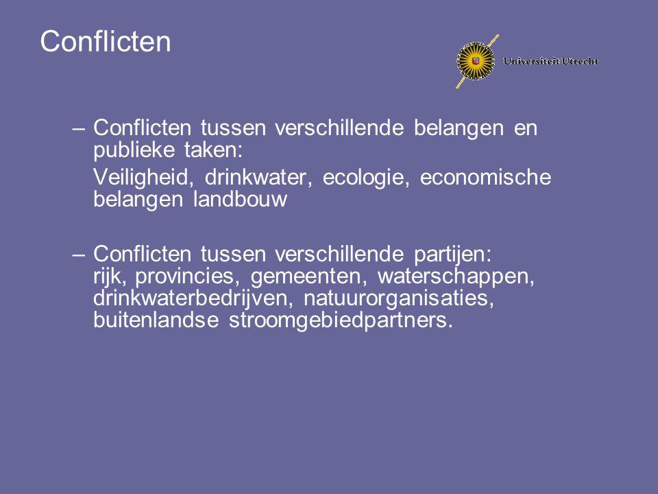 Conflicten Conflicten tussen verschillende belangen en publieke taken: