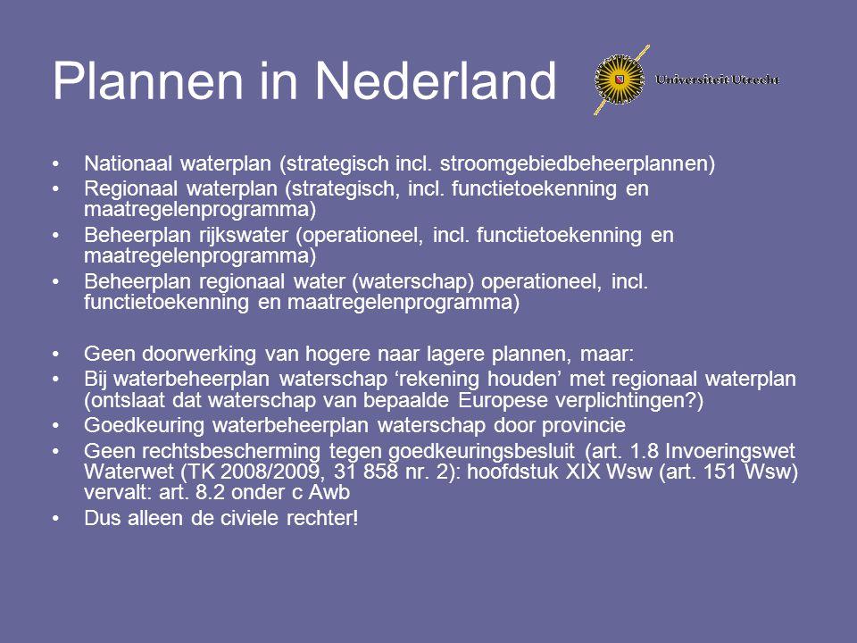 Plannen in Nederland Nationaal waterplan (strategisch incl. stroomgebiedbeheerplannen)
