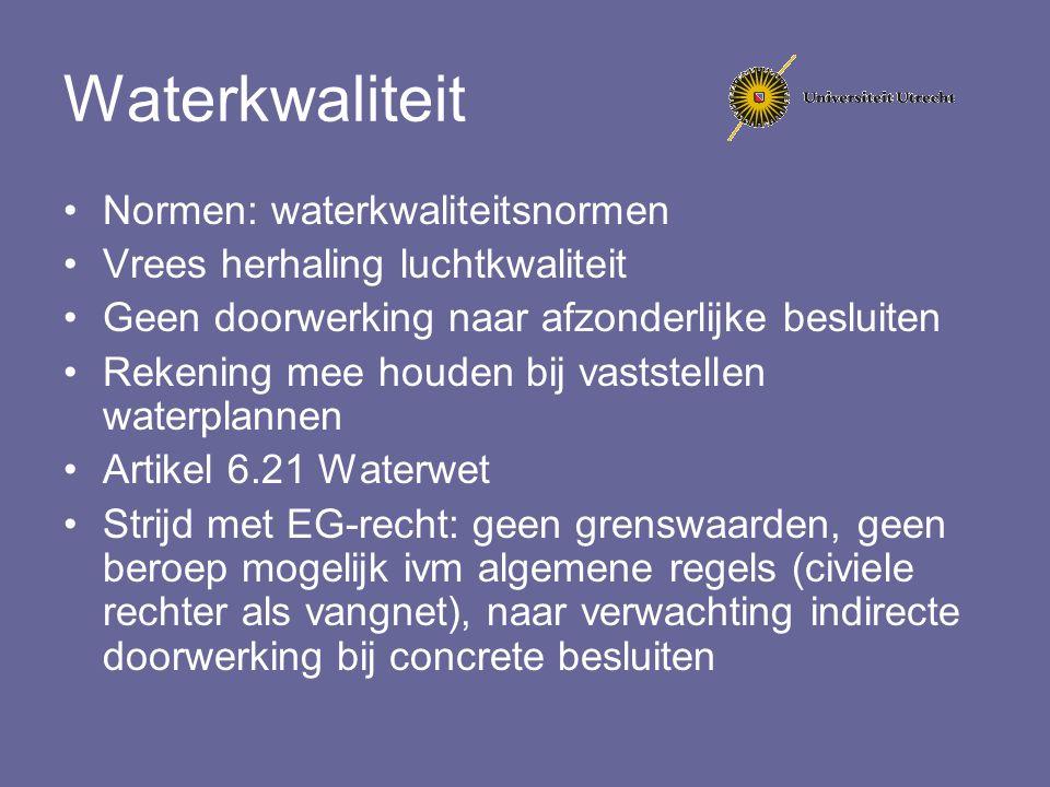Waterkwaliteit Normen: waterkwaliteitsnormen
