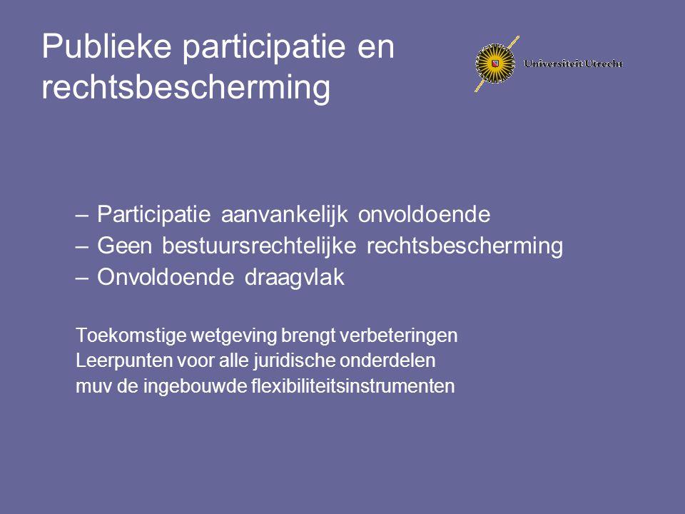 Publieke participatie en rechtsbescherming