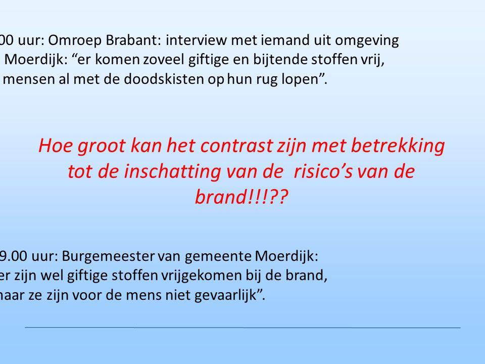 16.00 uur: Omroep Brabant: interview met iemand uit omgeving