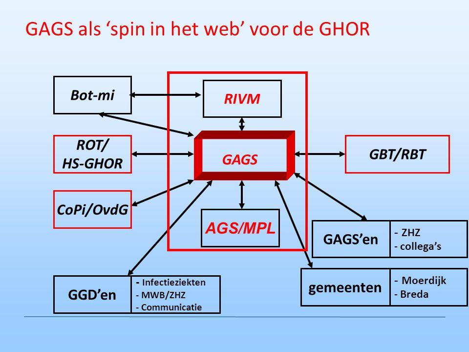GAGS als 'spin in het web' voor de GHOR