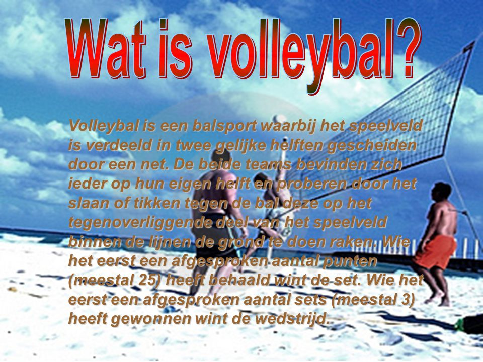Wat is volleybal
