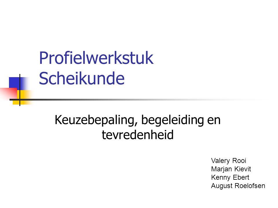 Profielwerkstuk Scheikunde