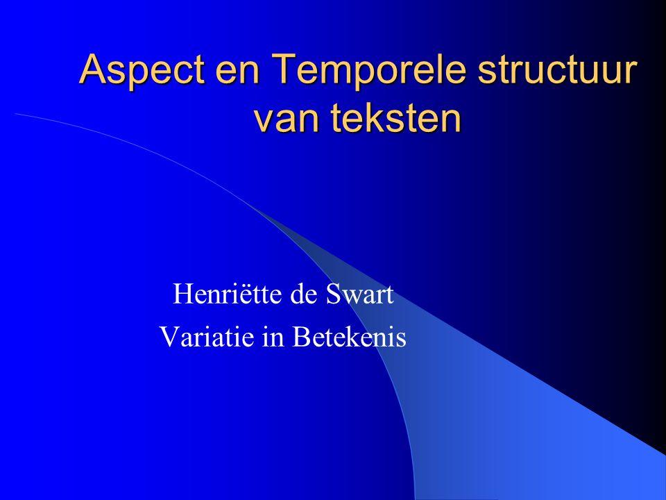 Aspect en Temporele structuur van teksten