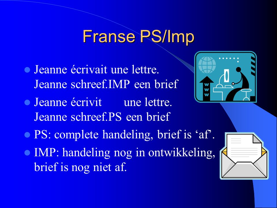 Franse PS/Imp Jeanne écrivait une lettre. Jeanne schreef.IMP een brief