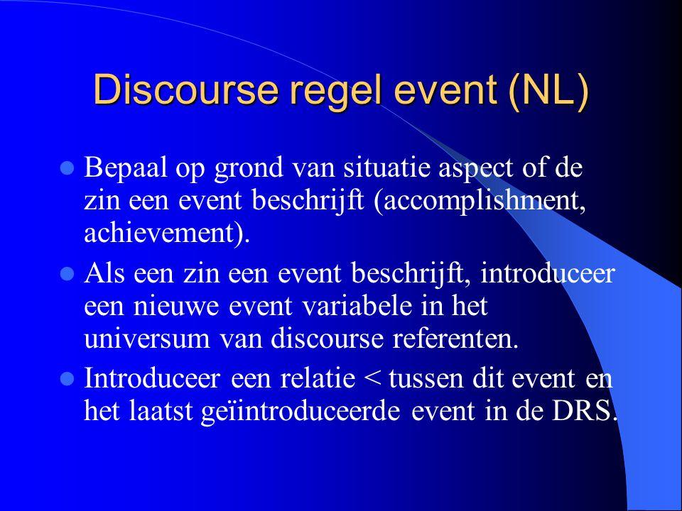 Discourse regel event (NL)