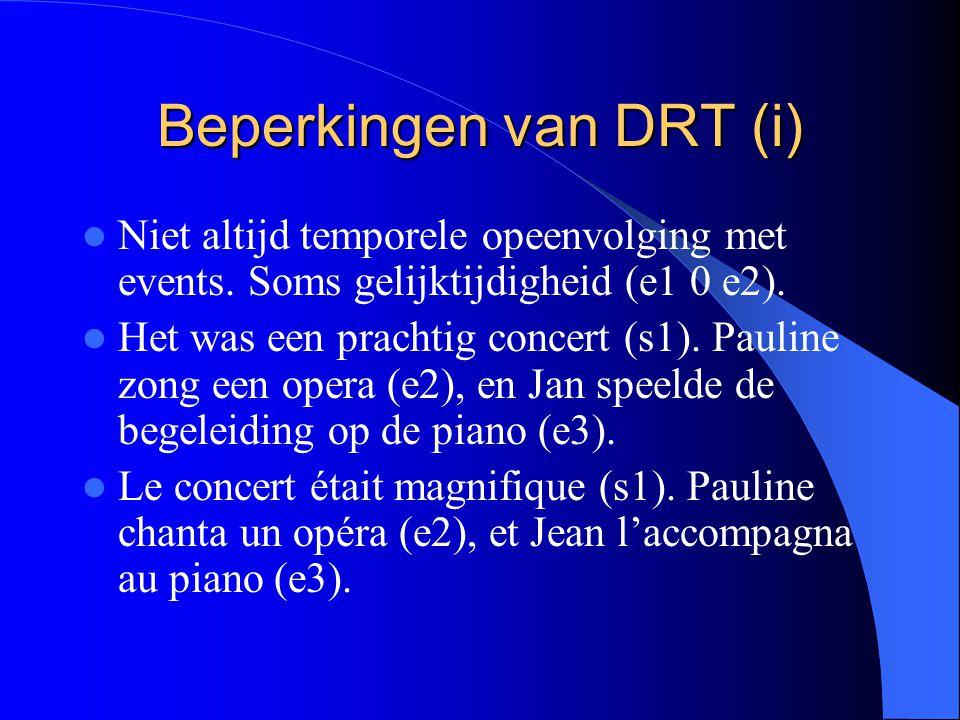 Beperkingen van DRT (i)