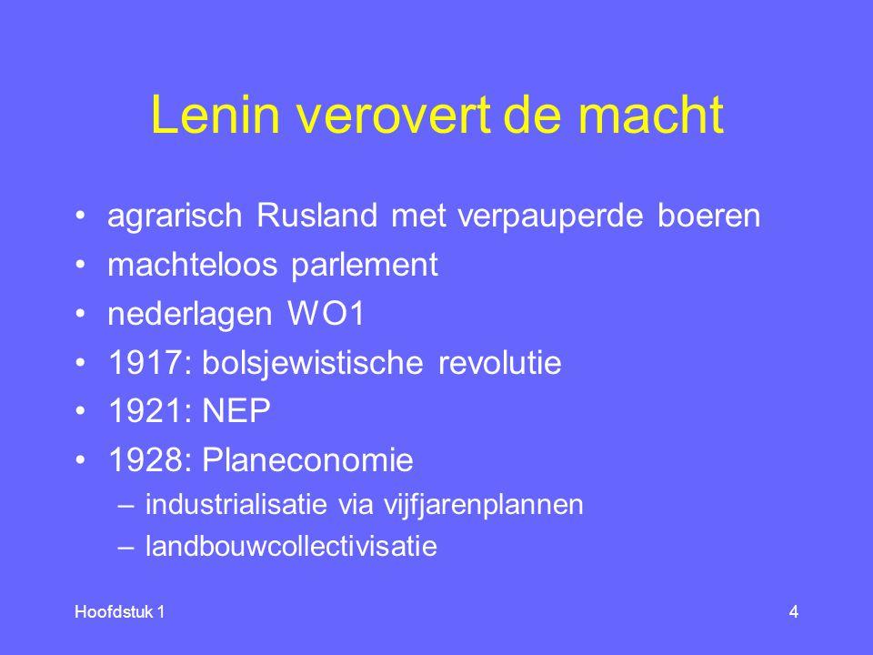 Lenin verovert de macht