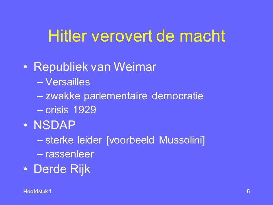 Hitler verovert de macht