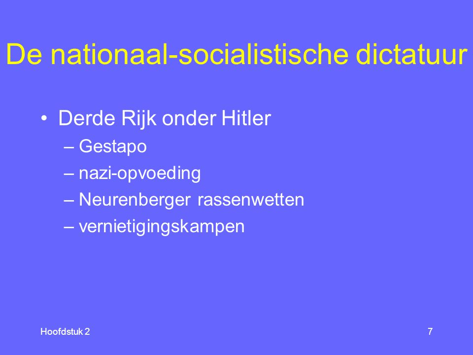 De nationaal-socialistische dictatuur