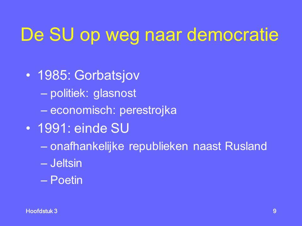 De SU op weg naar democratie