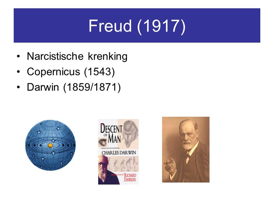 Freud (1917) Narcistische krenking Copernicus (1543)