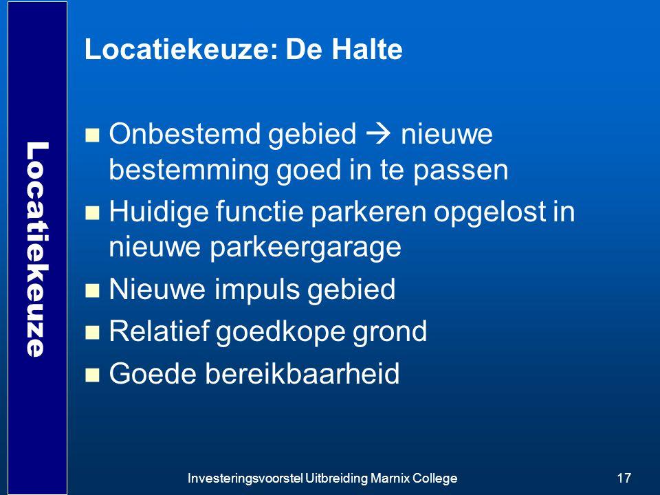 Locatiekeuze: De Halte