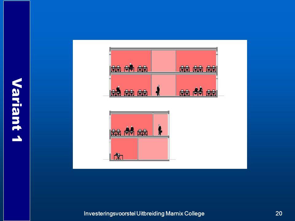 Variant 1 Investeringsvoorstel Uitbreiding Marnix College