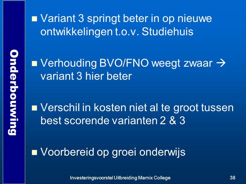 Variant 3 springt beter in op nieuwe ontwikkelingen t.o.v. Studiehuis