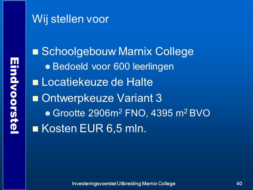 Schoolgebouw Marnix College Locatiekeuze de Halte