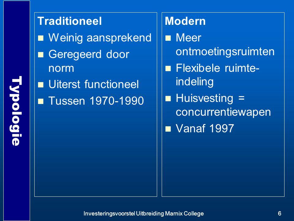 Typologie Traditioneel Weinig aansprekend Geregeerd door norm
