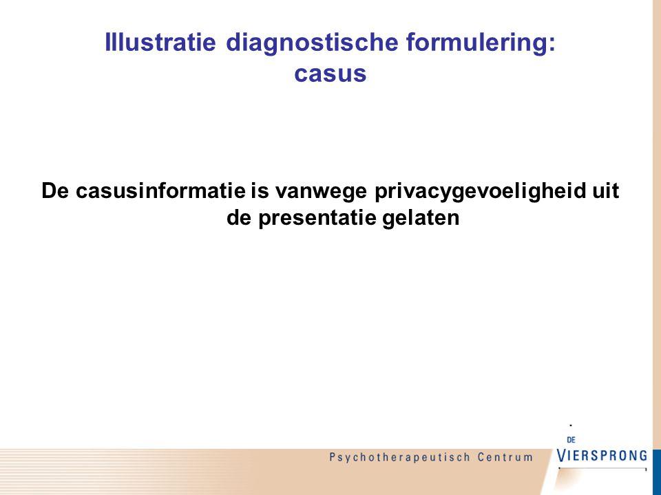 Illustratie diagnostische formulering: casus