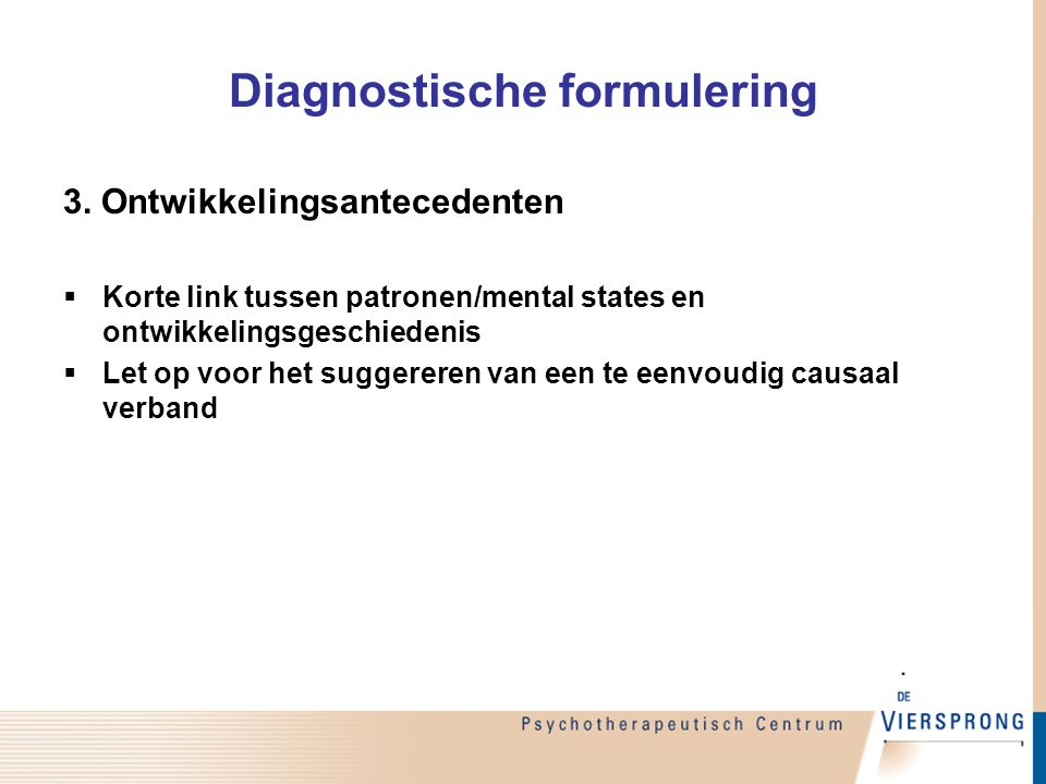 Diagnostische formulering