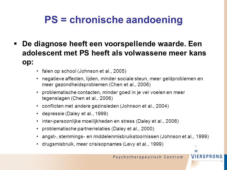 PS = chronische aandoening
