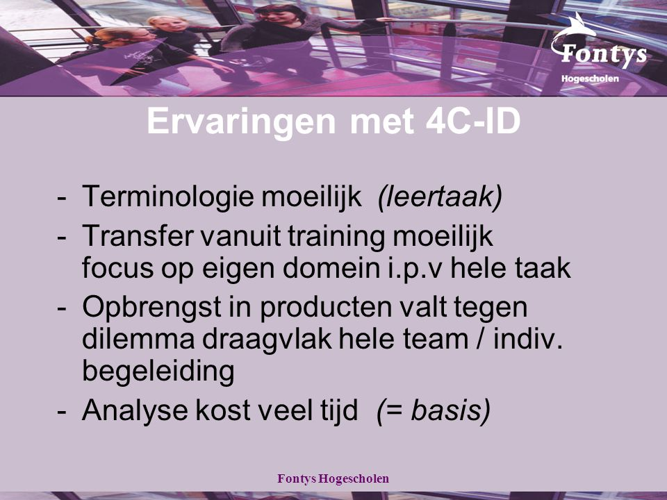 Ervaringen met 4C-ID - Terminologie moeilijk (leertaak)