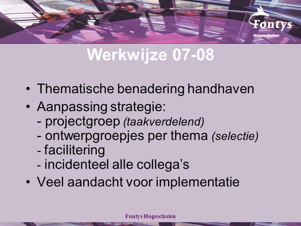 Werkwijze 07-08 Thematische benadering handhaven
