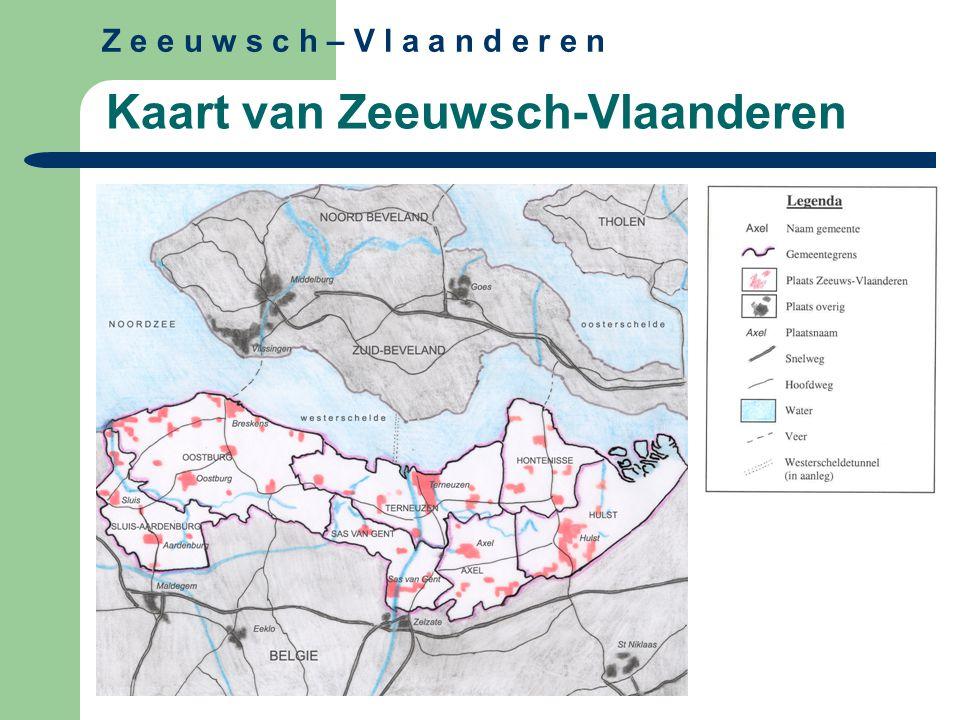 Kaart van Zeeuwsch-Vlaanderen