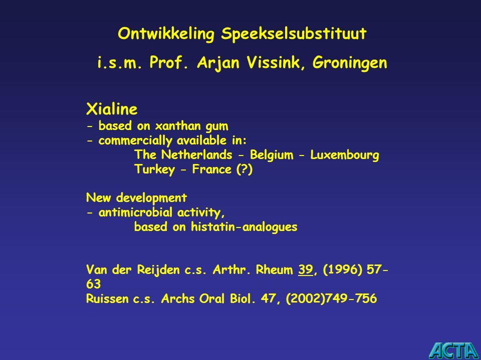 Ontwikkeling Speekselsubstituut i.s.m. Prof. Arjan Vissink, Groningen