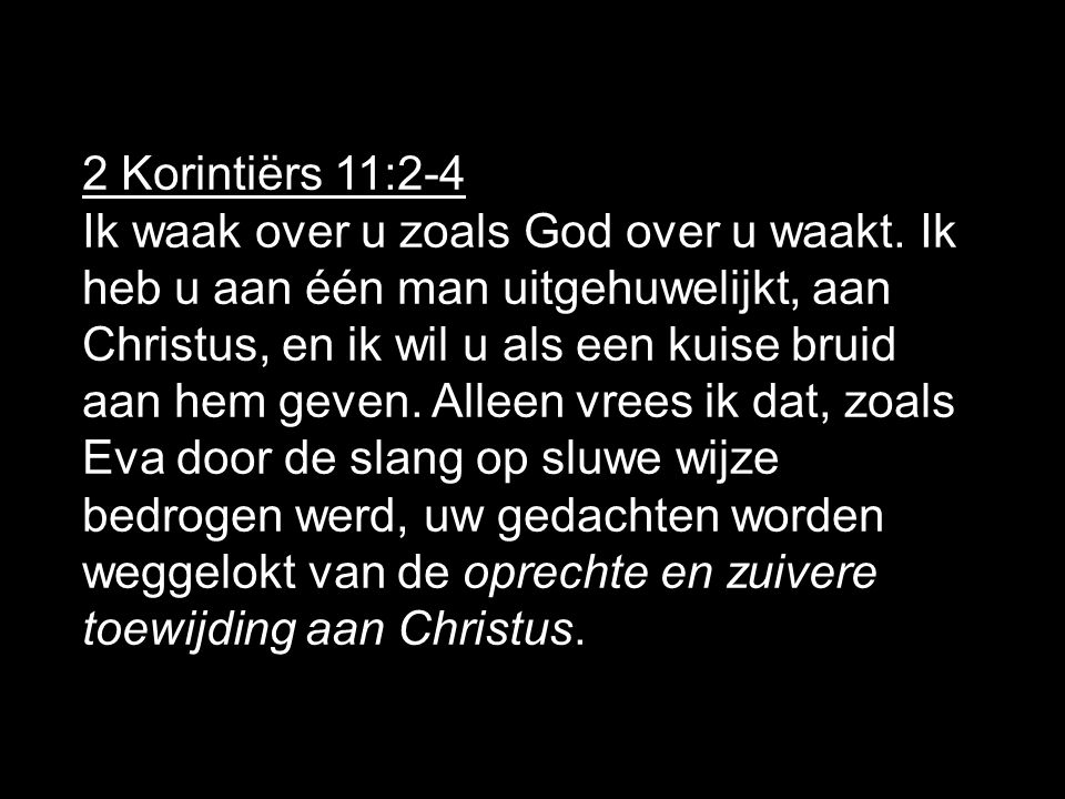 2 Korintiërs 11:2-4