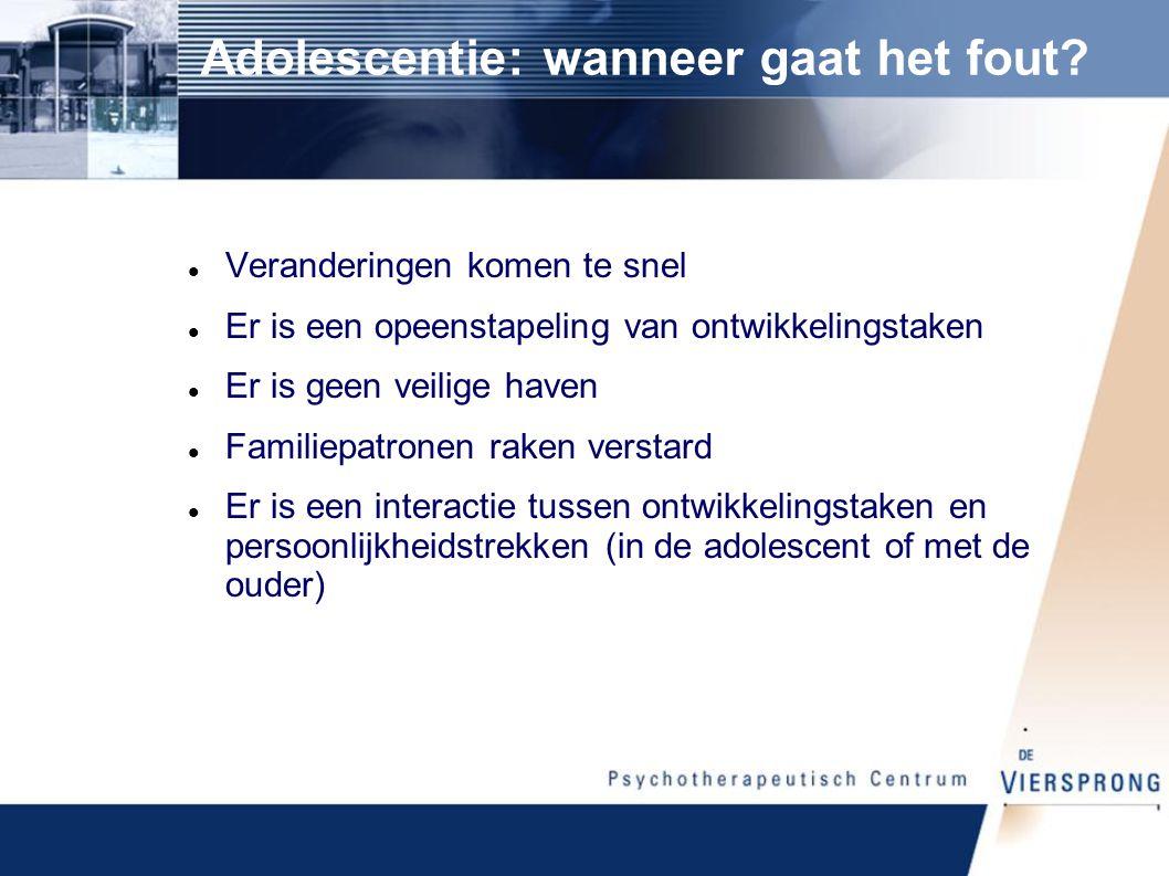 Adolescentie: wanneer gaat het fout