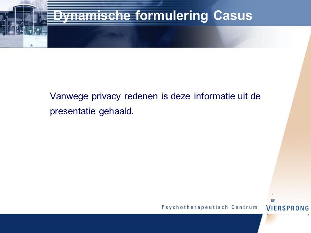 Dynamische formulering Casus