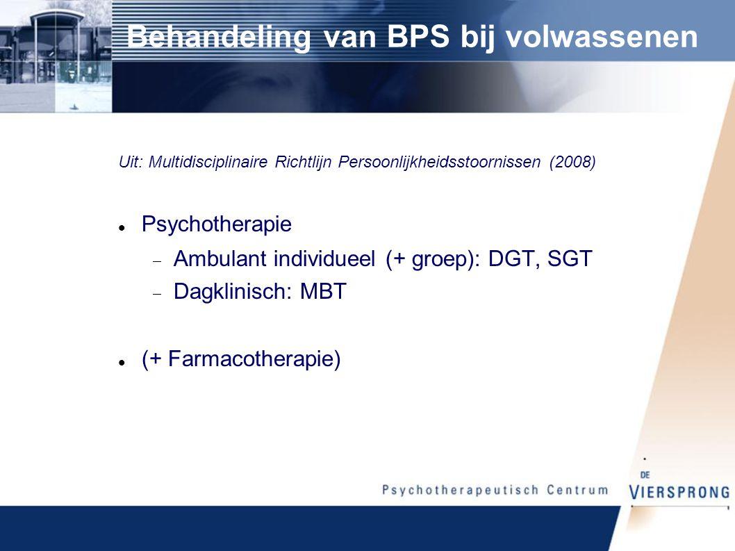 Behandeling van BPS bij volwassenen