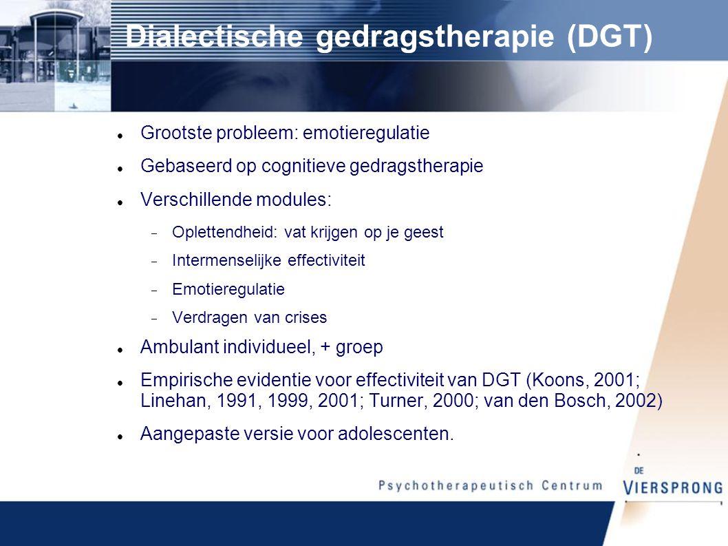 Dialectische gedragstherapie (DGT)