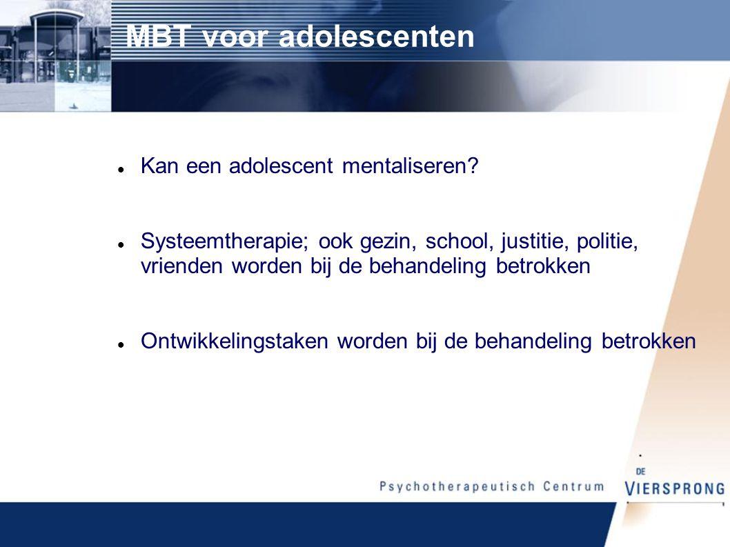 MBT voor adolescenten Kan een adolescent mentaliseren
