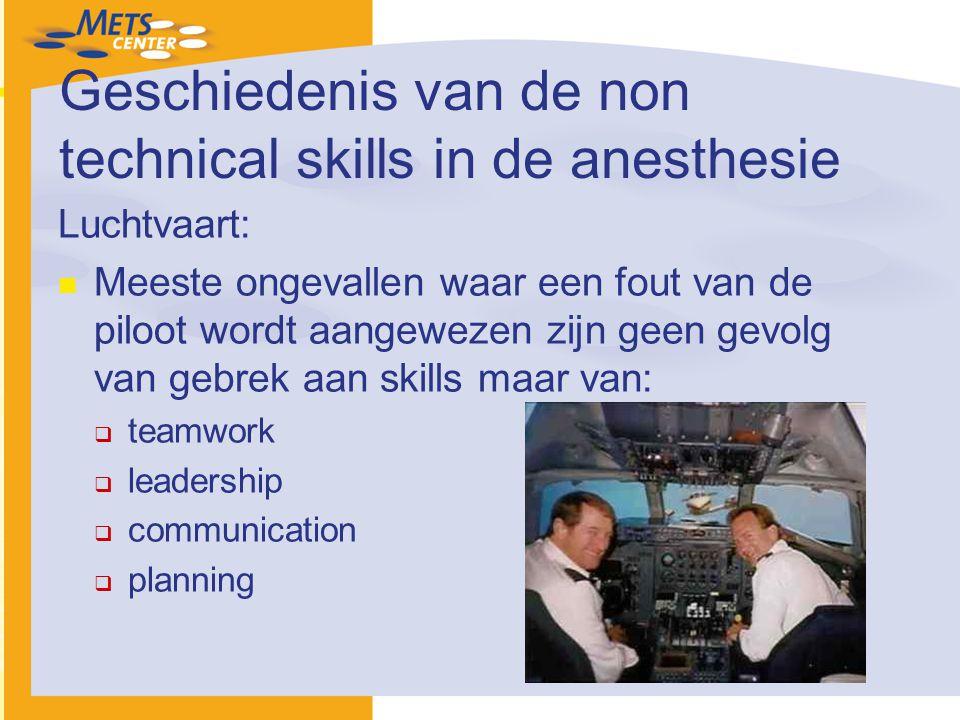 Geschiedenis van de non technical skills in de anesthesie