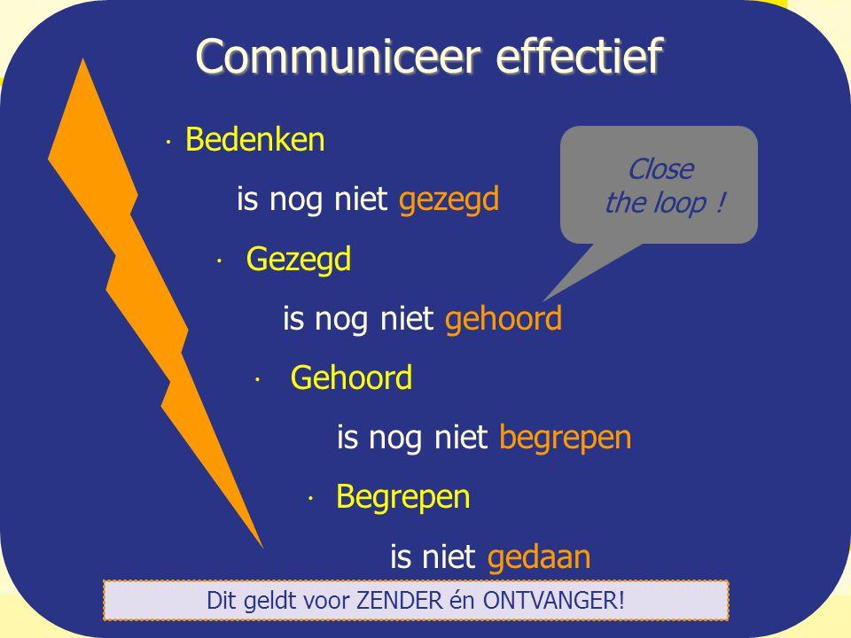 Communiceer effectief