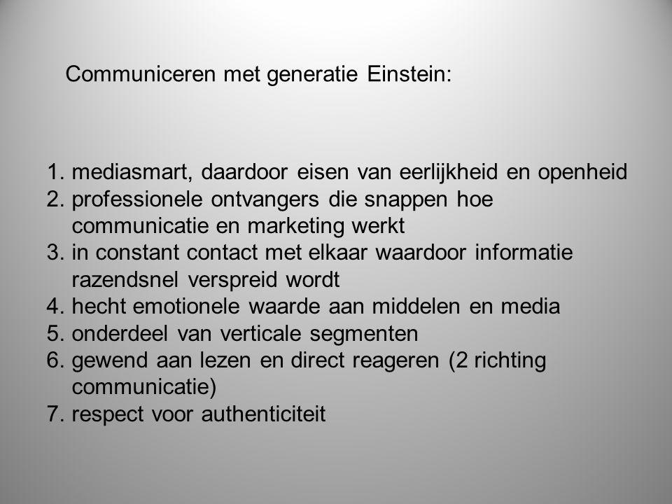Communiceren met generatie Einstein: