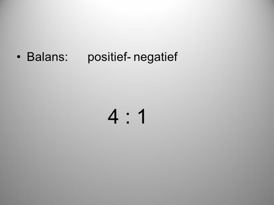 Balans: positief- negatief