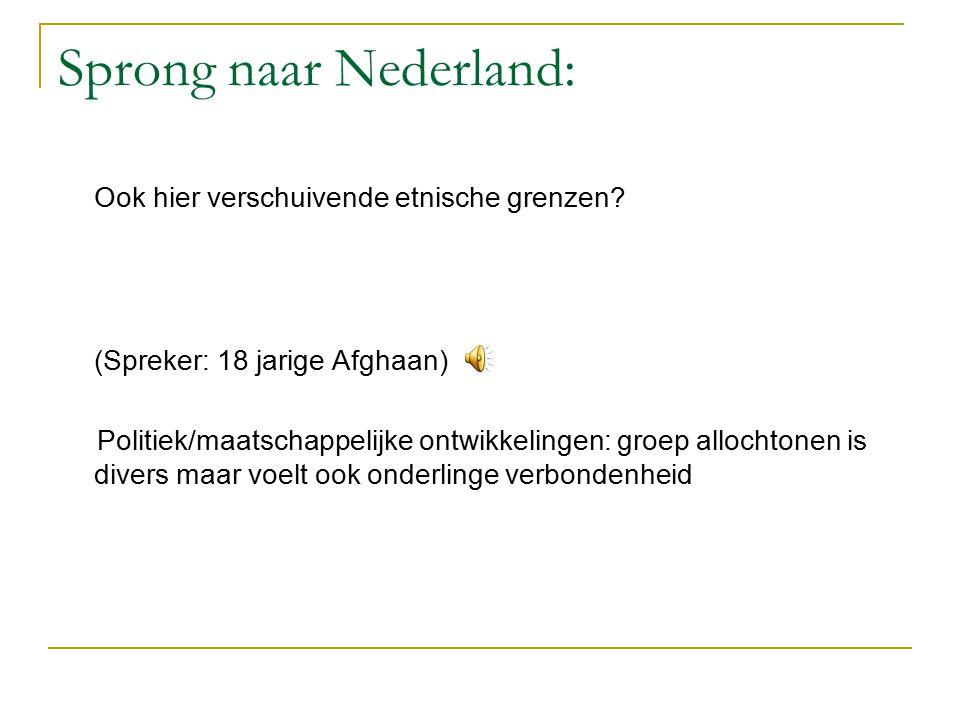 Sprong naar Nederland: