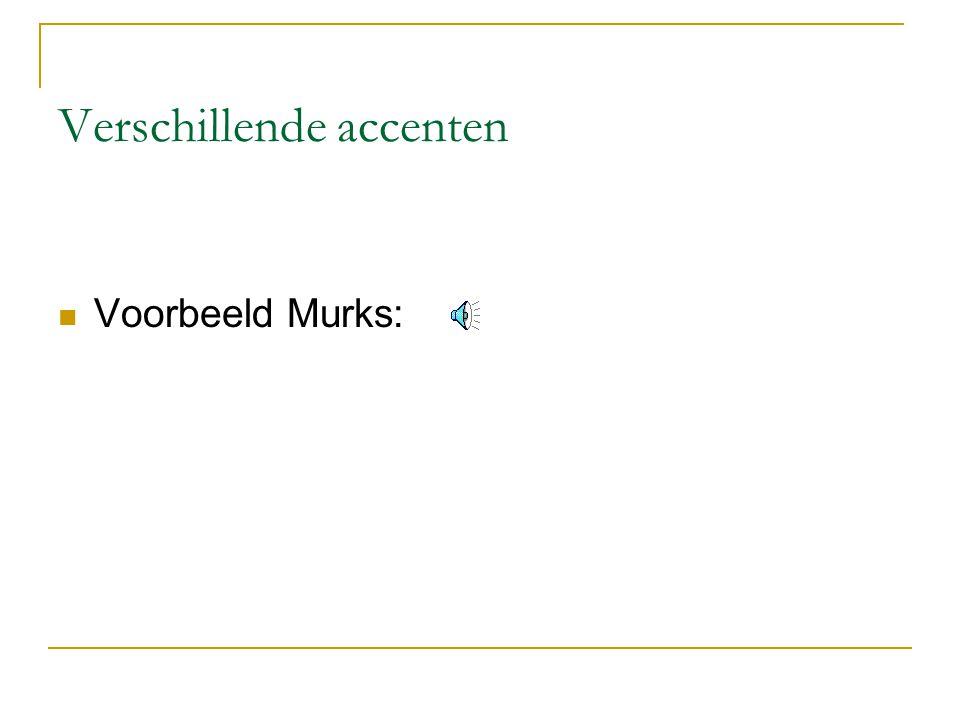 Verschillende accenten