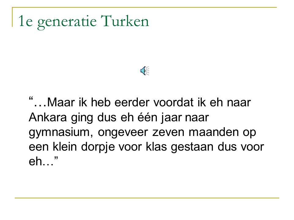 1e generatie Turken