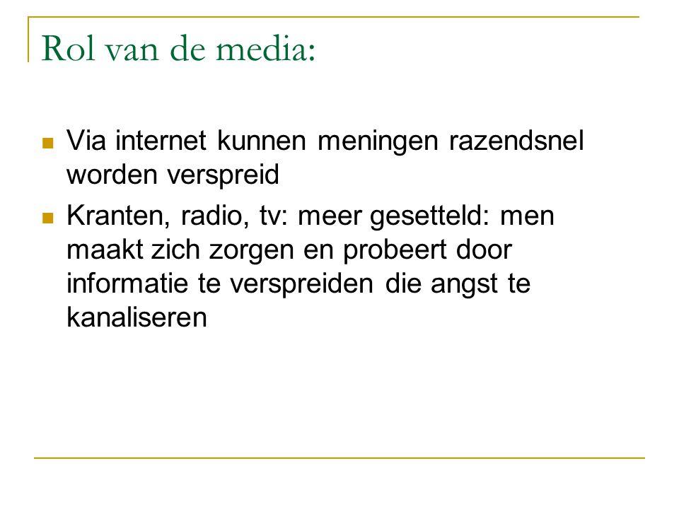 Rol van de media: Via internet kunnen meningen razendsnel worden verspreid.