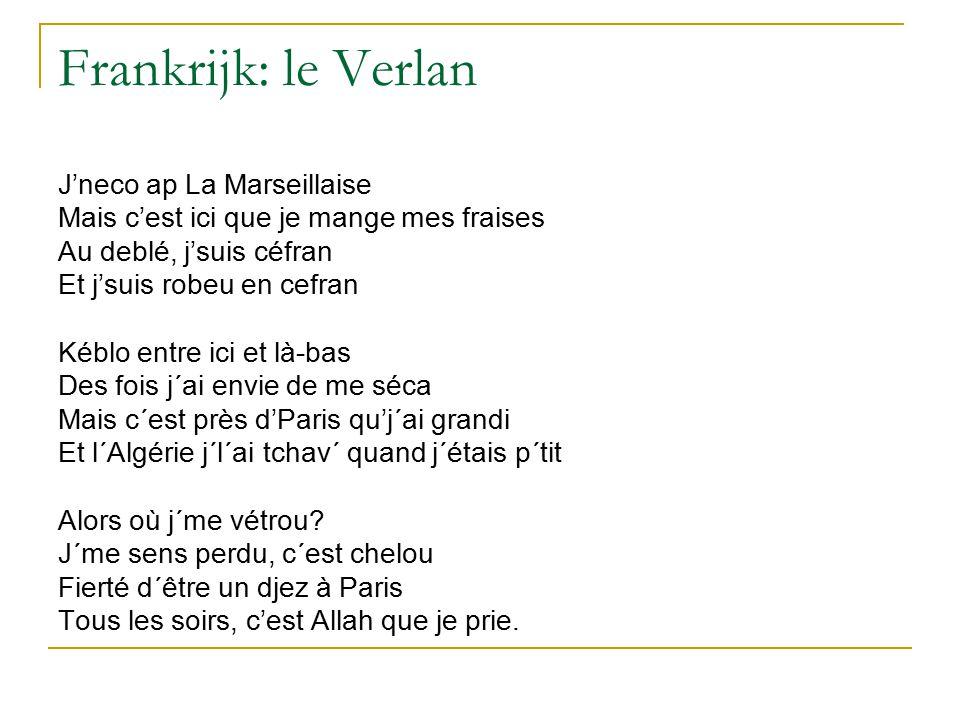Frankrijk: le Verlan J'neco ap La Marseillaise
