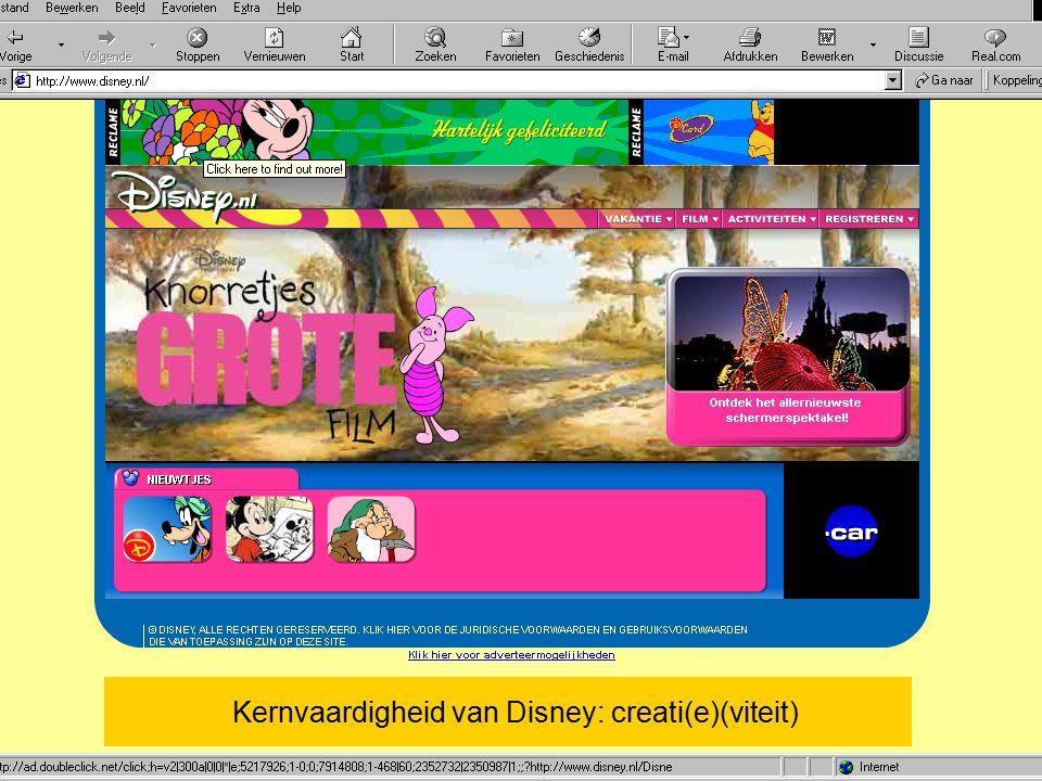 Kernvaardigheid van Disney: creati(e)(viteit)