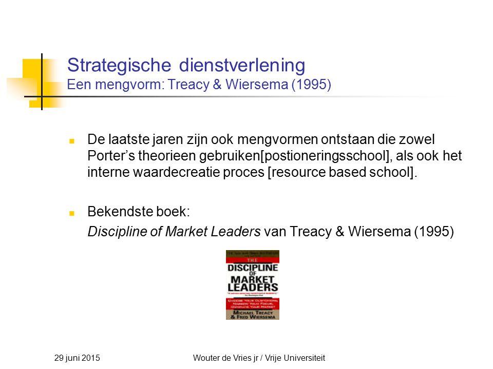 Strategische dienstverlening Een mengvorm: Treacy & Wiersema (1995)