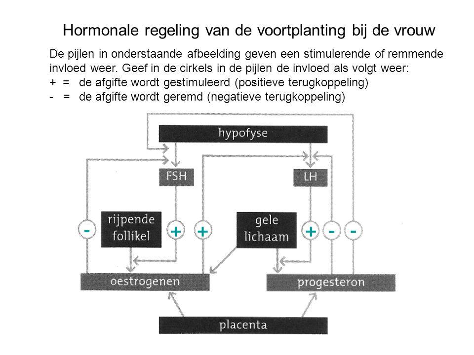 Hormonale regeling van de voortplanting bij de vrouw